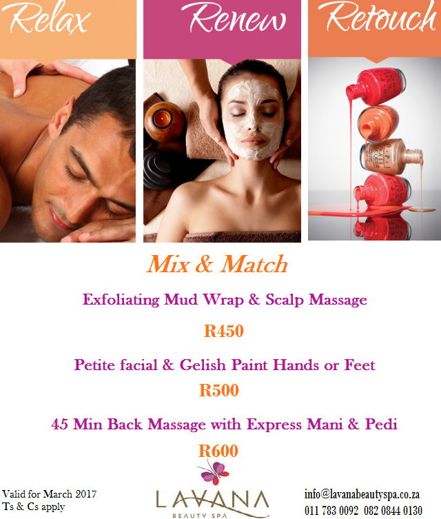 Lavana Beauty Spa March Promotional Special