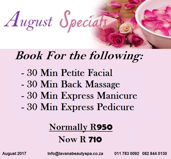 Lavana Beauty Spa August Specials