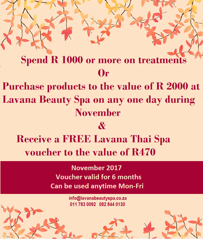 lavana beauty spa november special