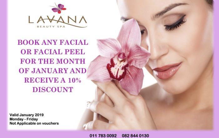 Lavana Beauty Spa January 2019 Facial Special