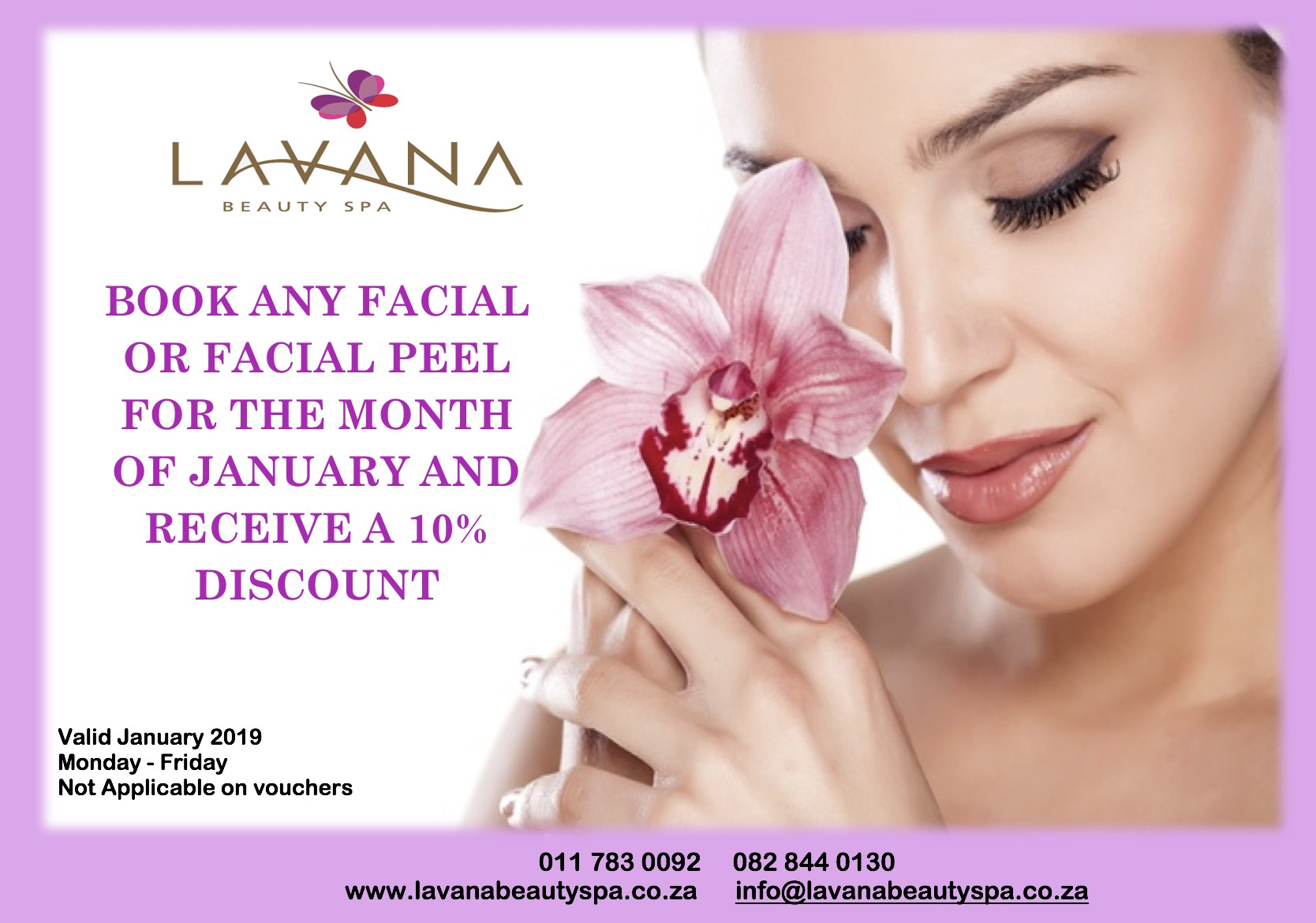 Lavana Beauty Spa January 2019 Facial Special