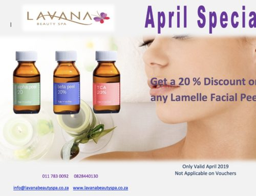 Get 20% off any Lamelle Facial Peel this April