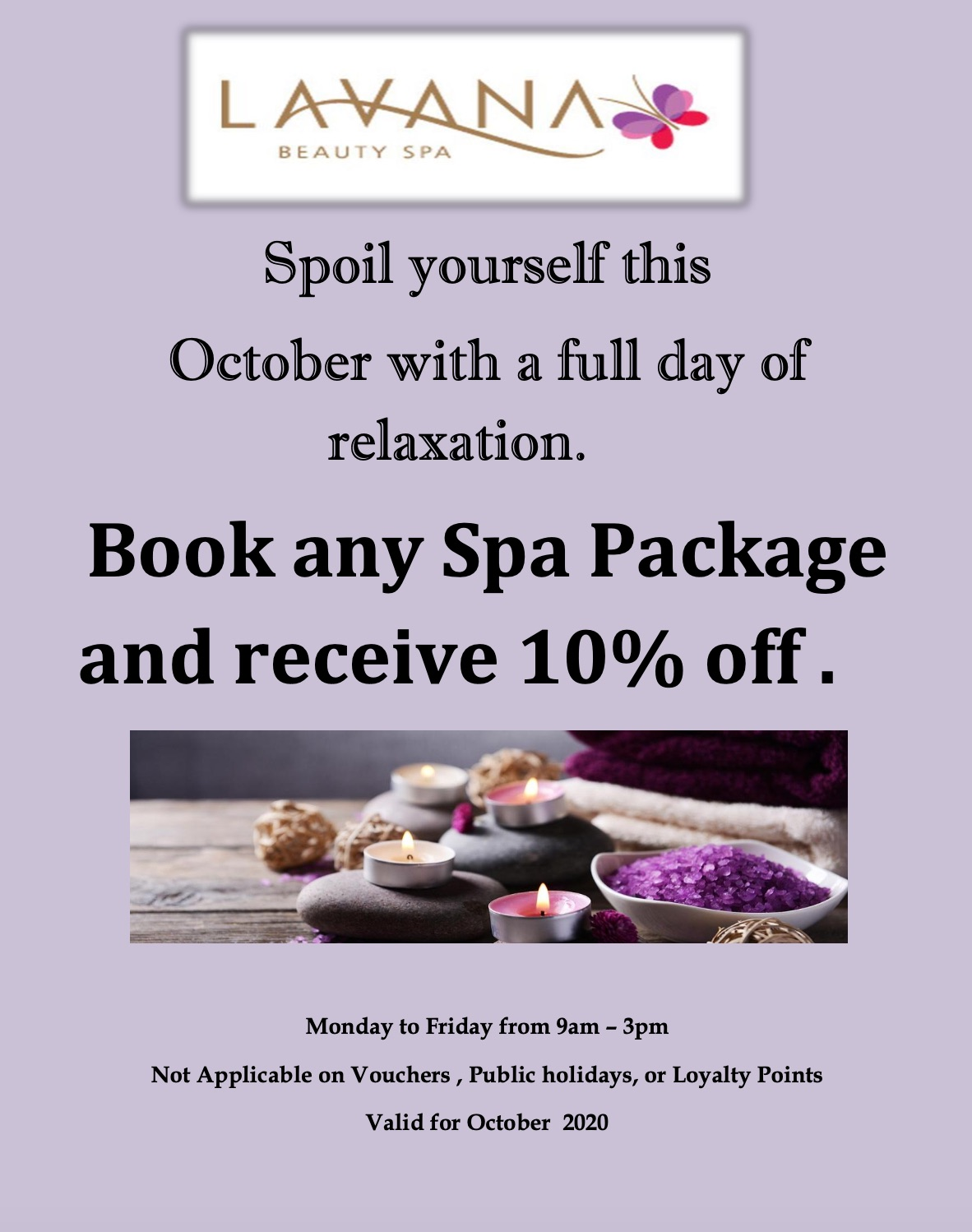 spa package special lavana beauty spa october 2020
